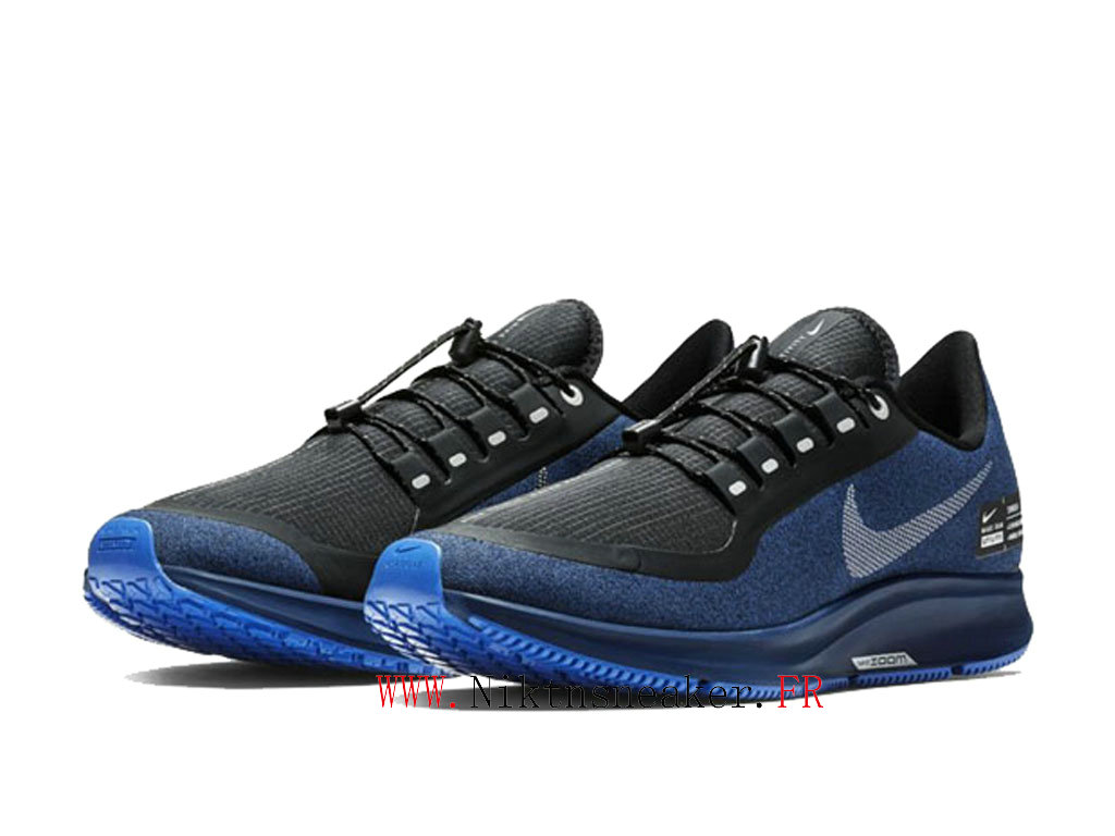 2020 Nike Air ZM Pegasus 35 Shield Black / Blue White AA1643 003 Men ́s Nike Running Shoes Cheap