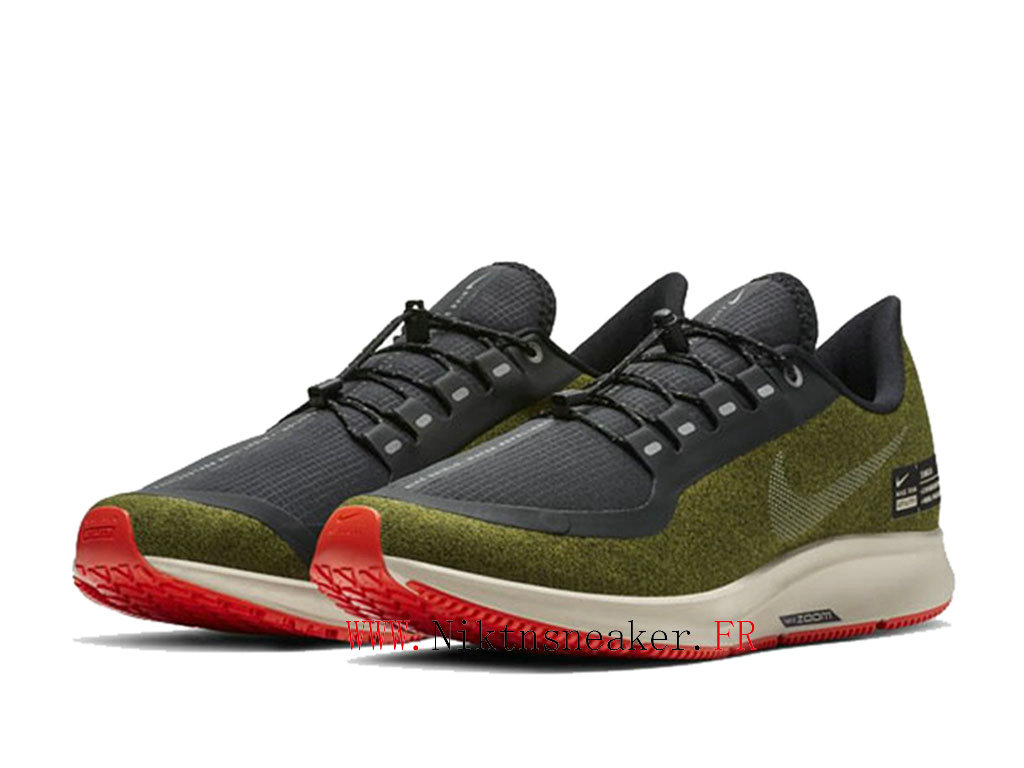2020 Nike Air ZM Pegasus 35 Shield Black / Green Red AA1643 300 Men ́s Nike Running Shoes Cheap