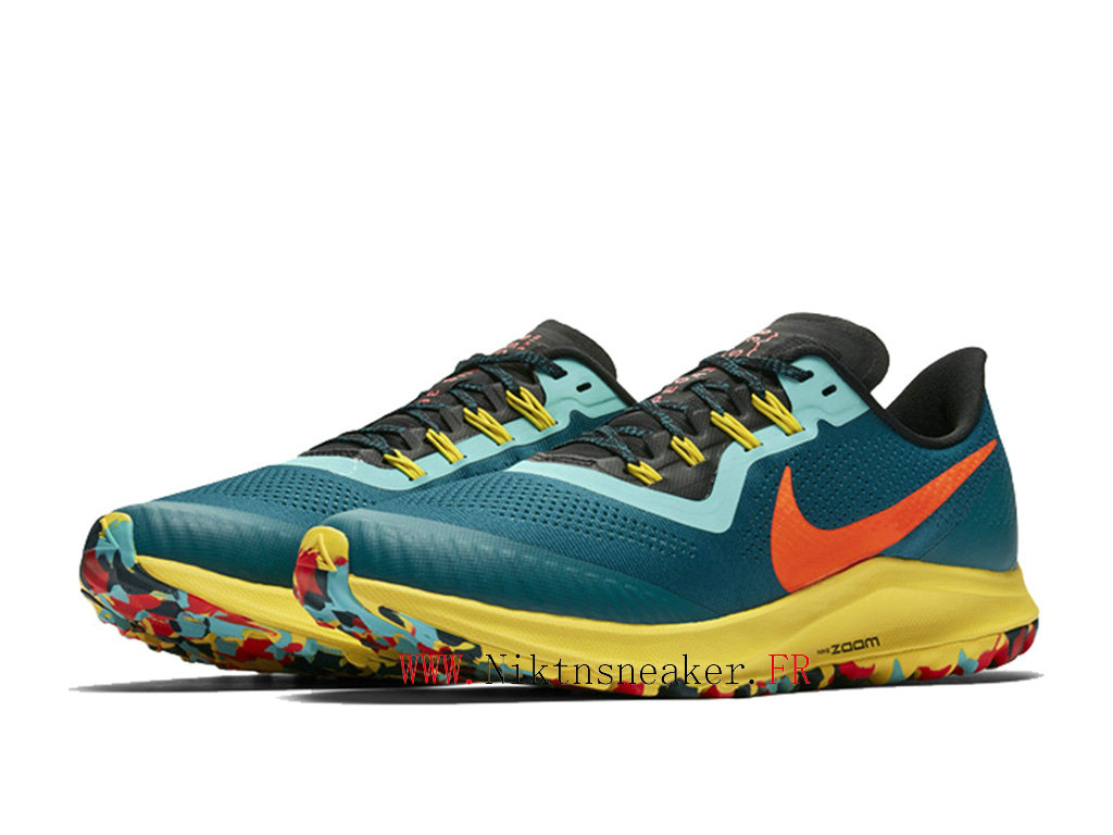 2020 Nike Air Zoom Pegasus 36 Trail 2 Orange / Green Yellow AR5677-301 Men ́s Women ́s Nike Running Shoes