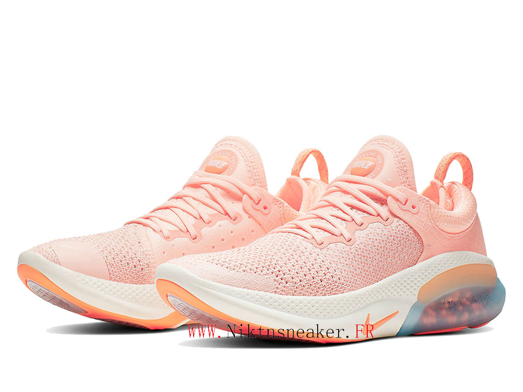 2020 Nike Joyride Run Flyknit Gs Orange / Blanc Chaussures De Course Pop-Corn Pour Femme AQ2730-601