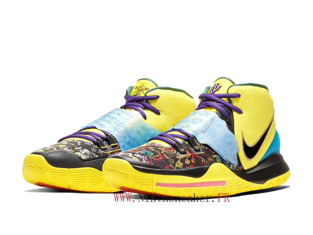 2020 Nike Kyrie 6 Chinese New Year Chaussures De Basket Pas Cher Homme Noir / Violet / Jaune CD5029-700