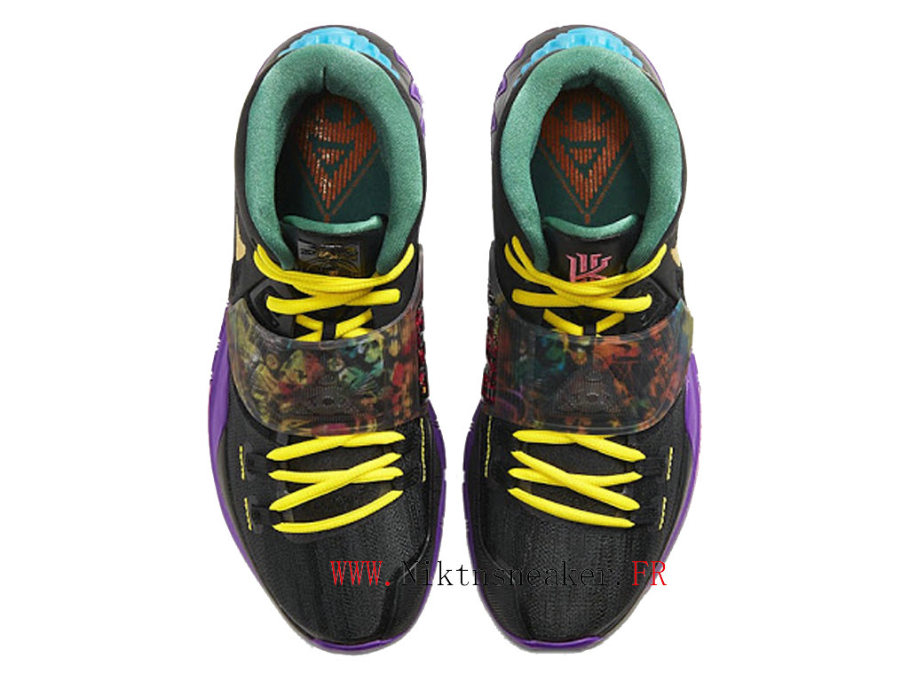 2020 Nike Kyrie 6 Chinese New Year Men ́s Basketball Cheap Shoes Black / Purple / Gold CD5029-001