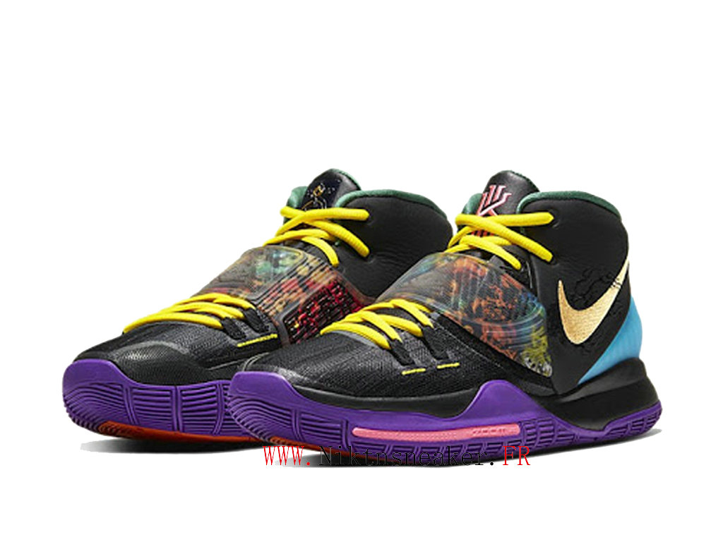 2020 Nike Kyrie 6 Chinese New Year Chaussures De Basket Pas Cher Homme Noir / Violet / Or CD5029-001