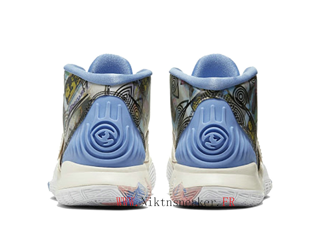 2020 Nike Kyrie 6 Preheat Collection Los Angeles Men ́s Cheap Shoes White / Blue / Pink CN9839-101