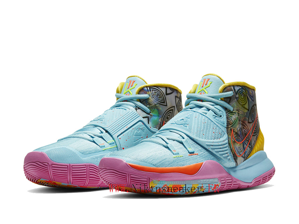 2020 Nike Kyrie 6 Preheat Collection Miami Men ́s Basketball Shoes Cheap Blue / Purple / Yellow CN9839-404