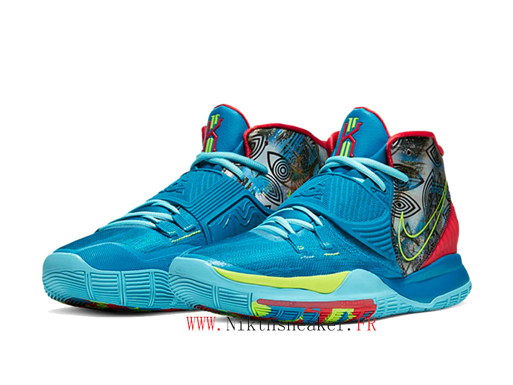 2020 Nike Kyrie 6 Preheat Collection New York City Chaussures Pas Cher Homme Rouge / Bleu CN9839-401
