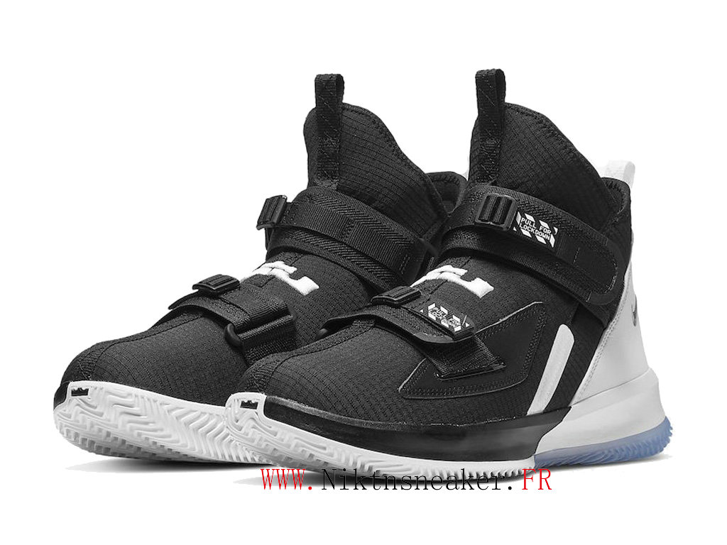 2020 Nike LeBron Soldier 13 SFG EP AR4225-001 Men ́s Basketball Shoes Cheap Black / White