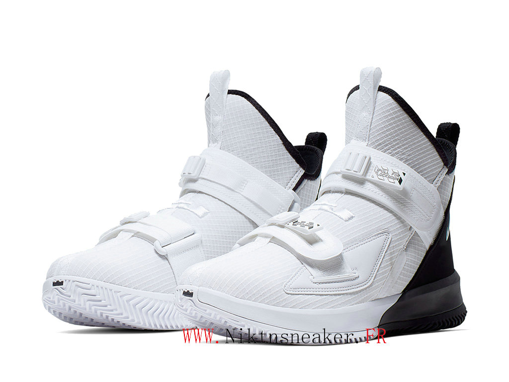 2020 Nike LeBron Soldier 13 SFG EP AR4228-100 Men ́s Basketball Cheap Shoes Black / White