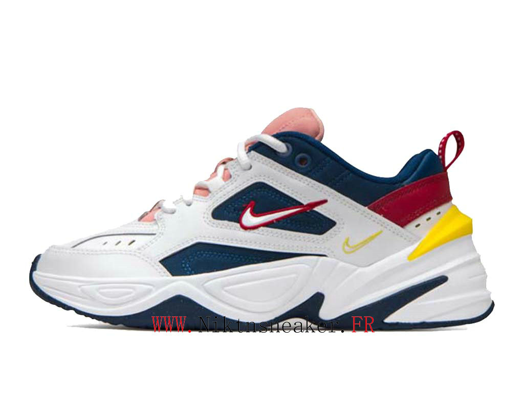 2020 Nike M2K Tekno White / Blue Yellow AO3108-402 Sport Women ́s Cheap Running Shoes