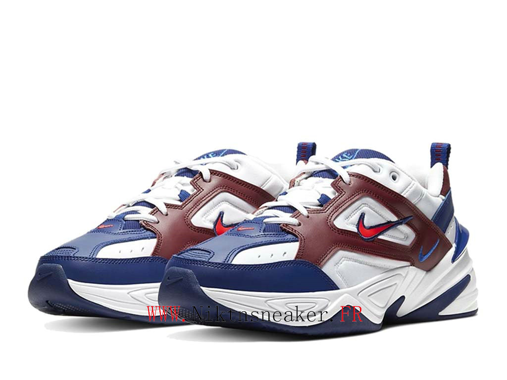 2020 Nike M2K Tekno Blue / White Red AV4789-107 Sport Men ́s Cheap Running Shoes