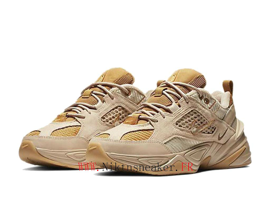 2020 Nike M2K Tekno Yellow / Brown BV0074-200 Sport Cheap Running Shoes Men ́s Women ́s