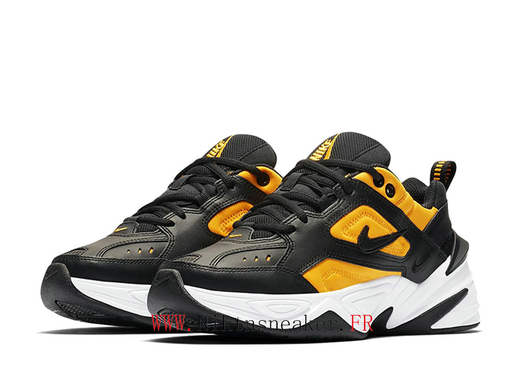 2020 Nike M2K Tekno Black / Yellow / White AO3108-014 Sport Men ́s Women ́s Cheap Running Shoes