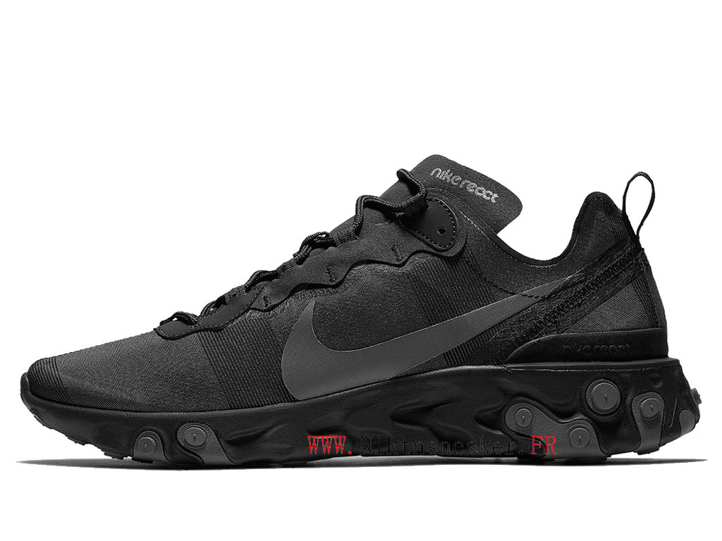 2020 Nike React Element 55 All-Star Noir BQ6166-008 Chaussures Course Basses Retro Homme Femme