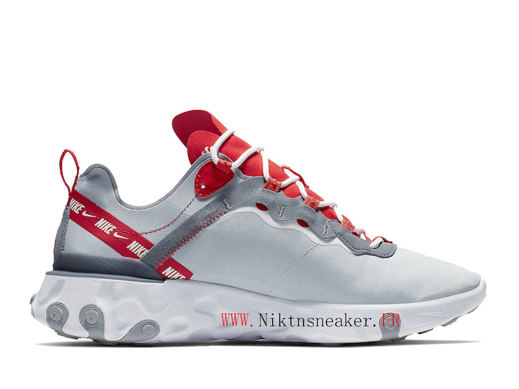 2020 Nike React Element 55 Blue / White / Red CD7340-001 Men´s Retro Running Shoes Low