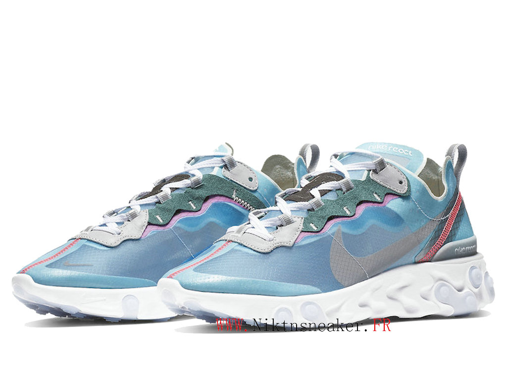 2020 Nike React Element 87 Blue / White AQ1090 400 Men´s Women ́s Retro Running Shoes Retro