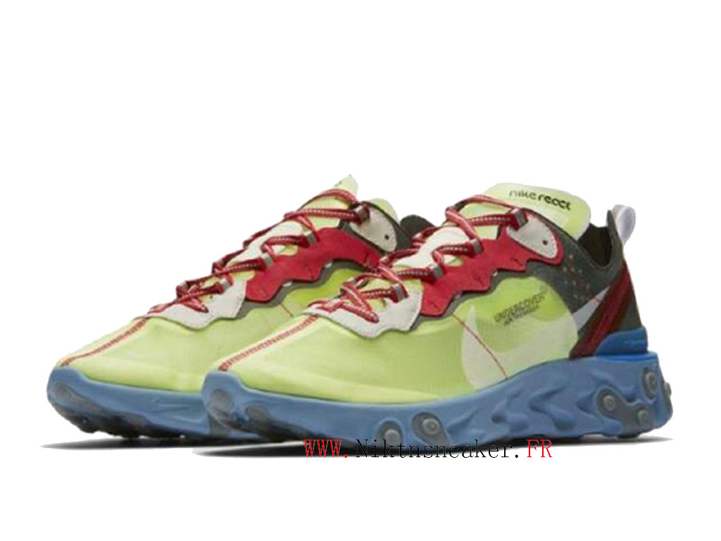 2020 Nike React Element 87 Blue / Green / Red BQ2718-700 Men ́s Women ́s Retro Running Shoes Retro