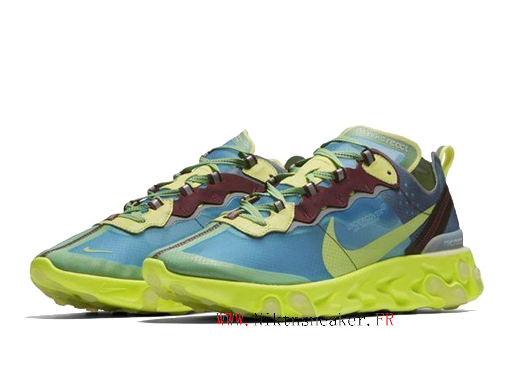 2020 Nike React Element 87 Green / Blue BQ2718 400 Men´s Women ́s Retro Running Shoes Retro