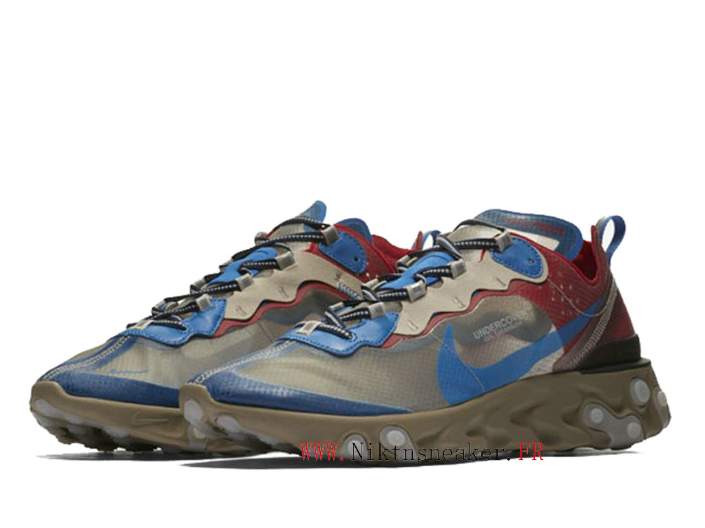 2020 Nike React Element 87 Gray / Red / Blue BQ2718-200 Men ́s Women ́s Retro Running Shoes Low