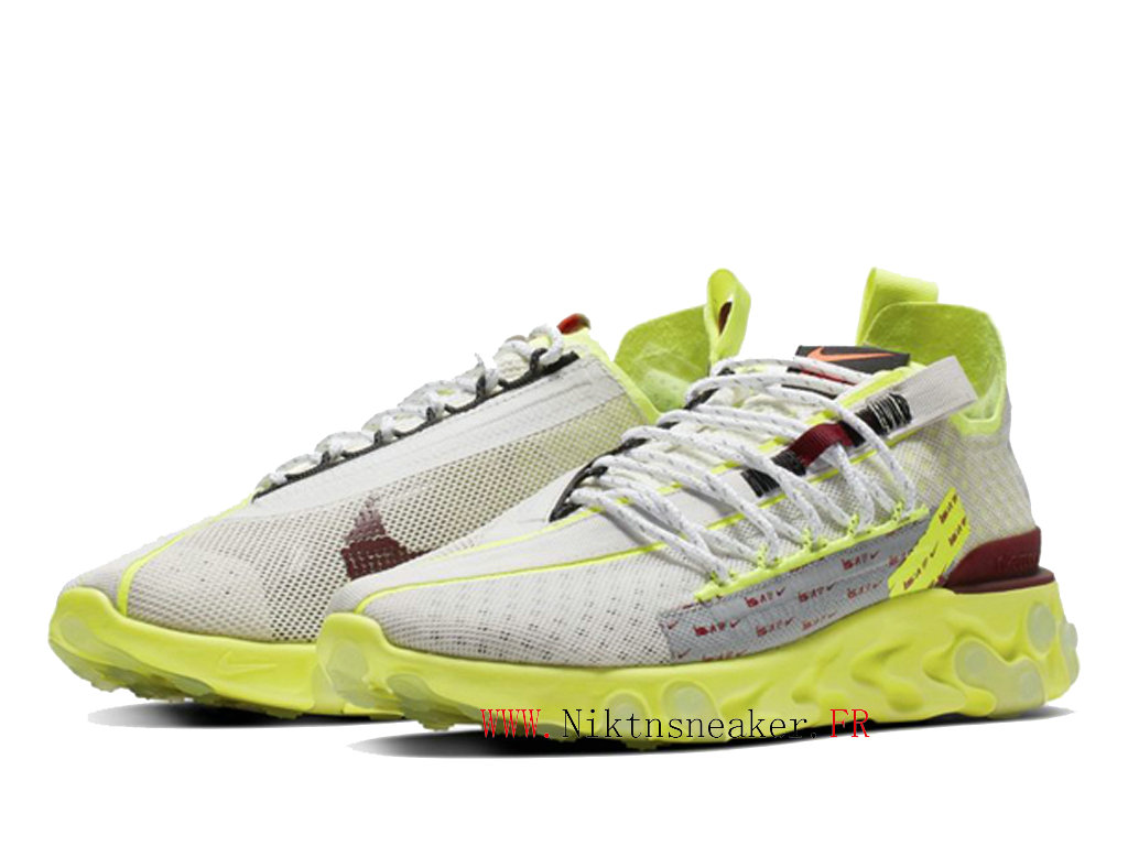 2020 NIKE REACT LW WR ISPA White / Green CT2692-002 Retro Running Shoes Retro Men´s Women ́s