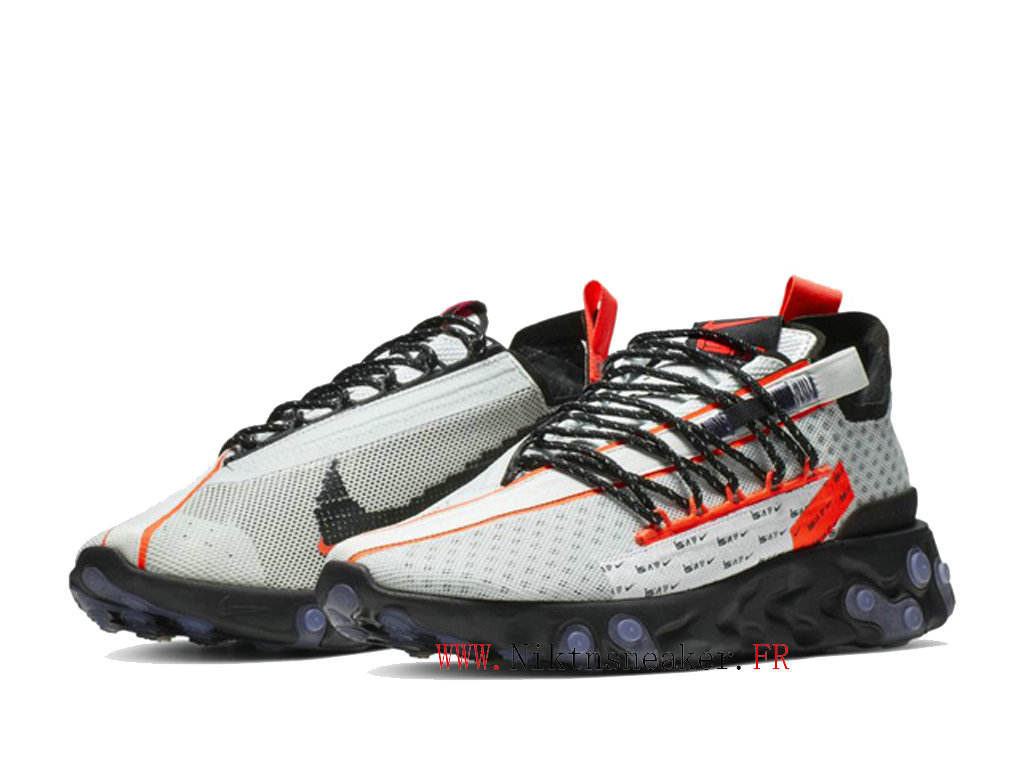 2020 Nike React LW WR ISPA Black / White / Red Low Running Shoes Retro Men ́s Women ́s CT2692-400