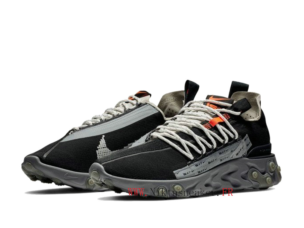 Nike React LW WR ISPA Black / Gray White AR8555-001 Men´s Retro Low Running Shoes