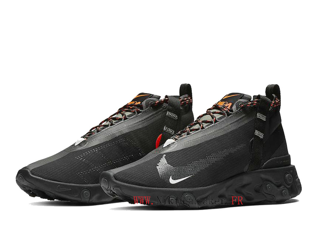 2020 Nike React Runner Mid WR ISPA All Star Black / White Men´s Retro Running Shoes AT3143-001
