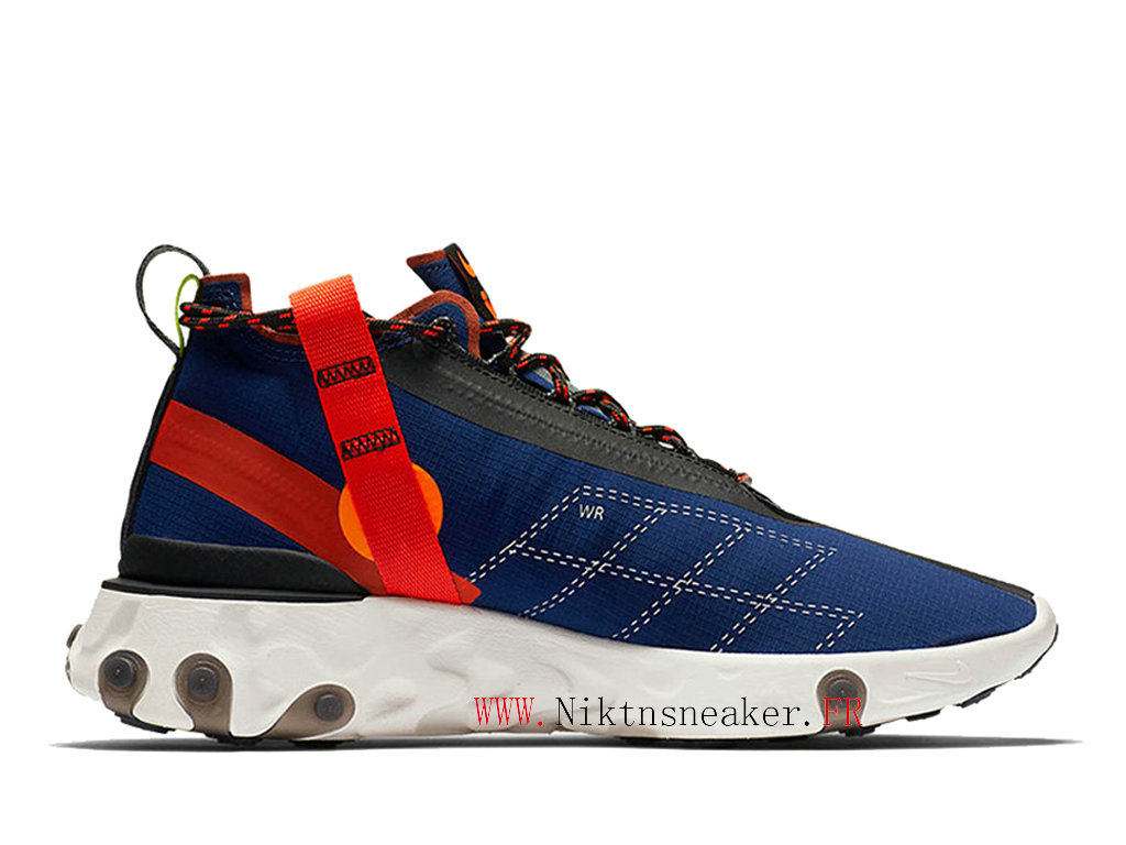 2020 Nike React Runner Mid WR ISPA Noir / Blanc / Bleu Chaussures Course Basses Retro Homme AT3143-400