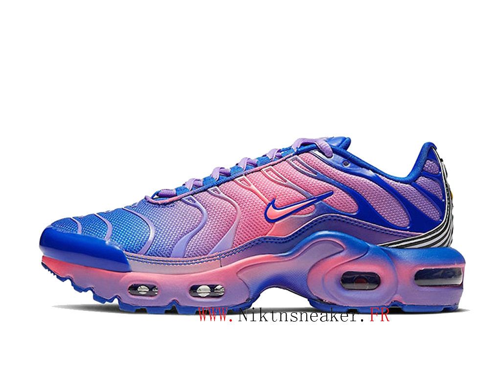 2020 Nike Tn Air Max Plus GS Pink Purple / Blue CT0962-400 Men ́s Sportswear Cheap Shoes