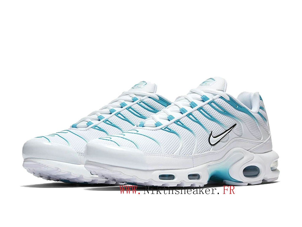 2020 Nike TN Air Max Plus Black / White / Blue 852630-105 Men ́s Sportswear Cheap Shoes