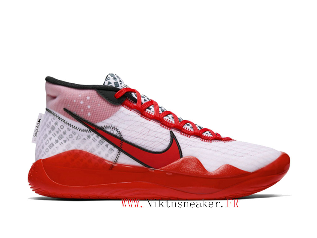 2020 Nike Zoom KD 12 QS CQ7734-900 Cheap Basketball Shoes For Men ́s Black / White / Red