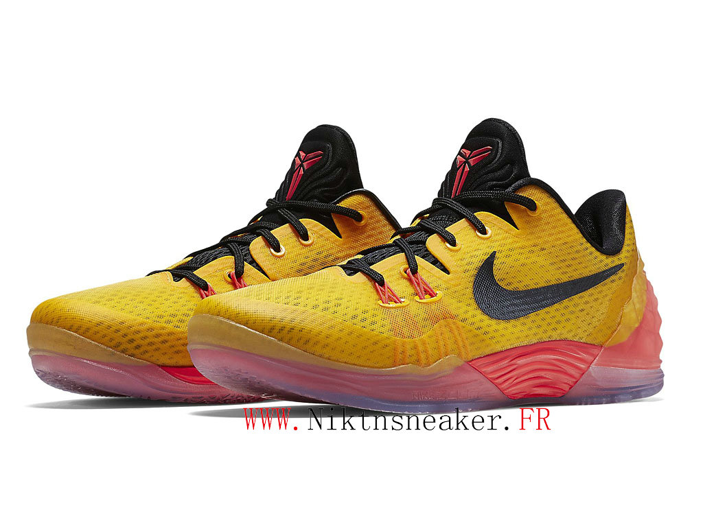 2020 Nike Zoom Kobe Venomenon 5 EP Yellow / Black / Orange 815757-706 Men´s Basketball Shoes Low Boots