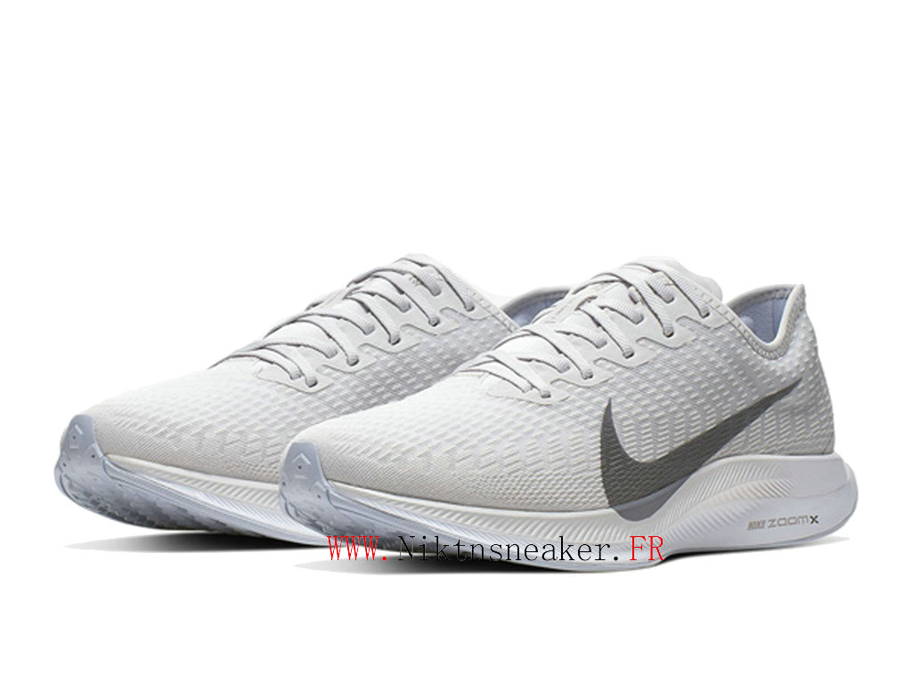 2020 Nike Zoom Pegasus Turbo 2 Gris / Blanc AT2863 002 Chaussure de Running Pas Cher Homme
