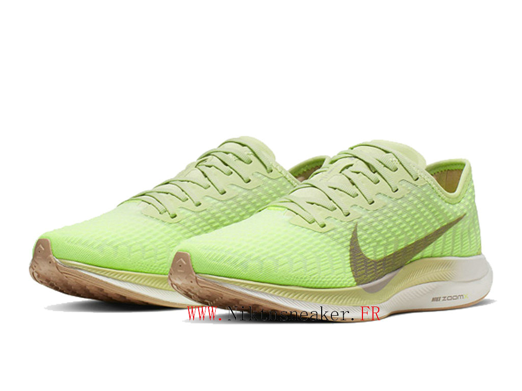 2020 Nike Zoom Pegasus Turbo 2 Gs Blanc Vert / Or AT8242 300 Chaussure de Running Pas Cher Femme