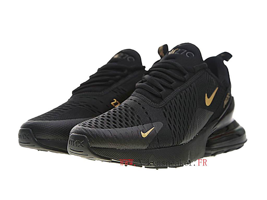 Nike Air Max 270 Men ́s Air Cushion Shoes 2020 All Black / Gold AH8050-007
