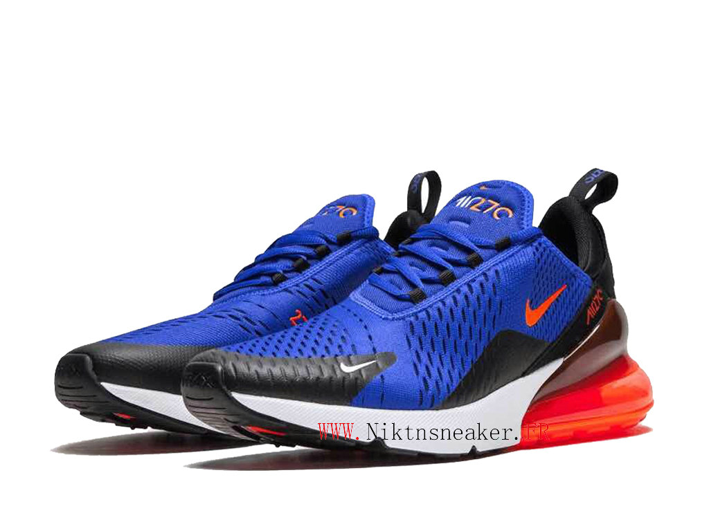 Nike Air Max 270 Men ́s Air Cushion Shoes 2020 Women ́s Black / Navy Blue / Orange AH8050-460