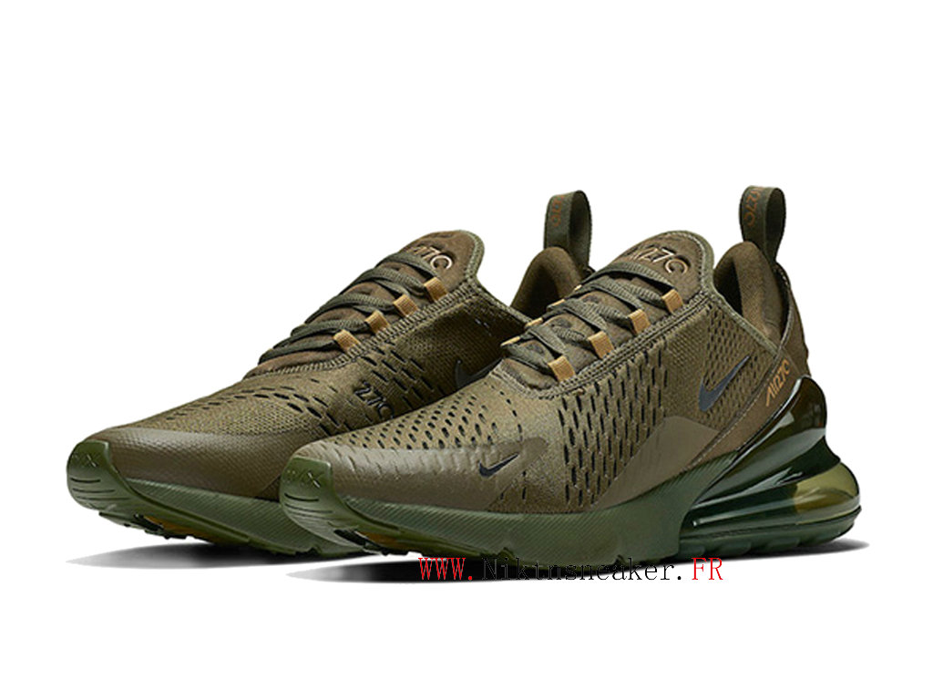 Nike Air Max 270 Men ́s 2020 Air Cushion Shoes Women ́s Navy Green / Yellow AH8050-301