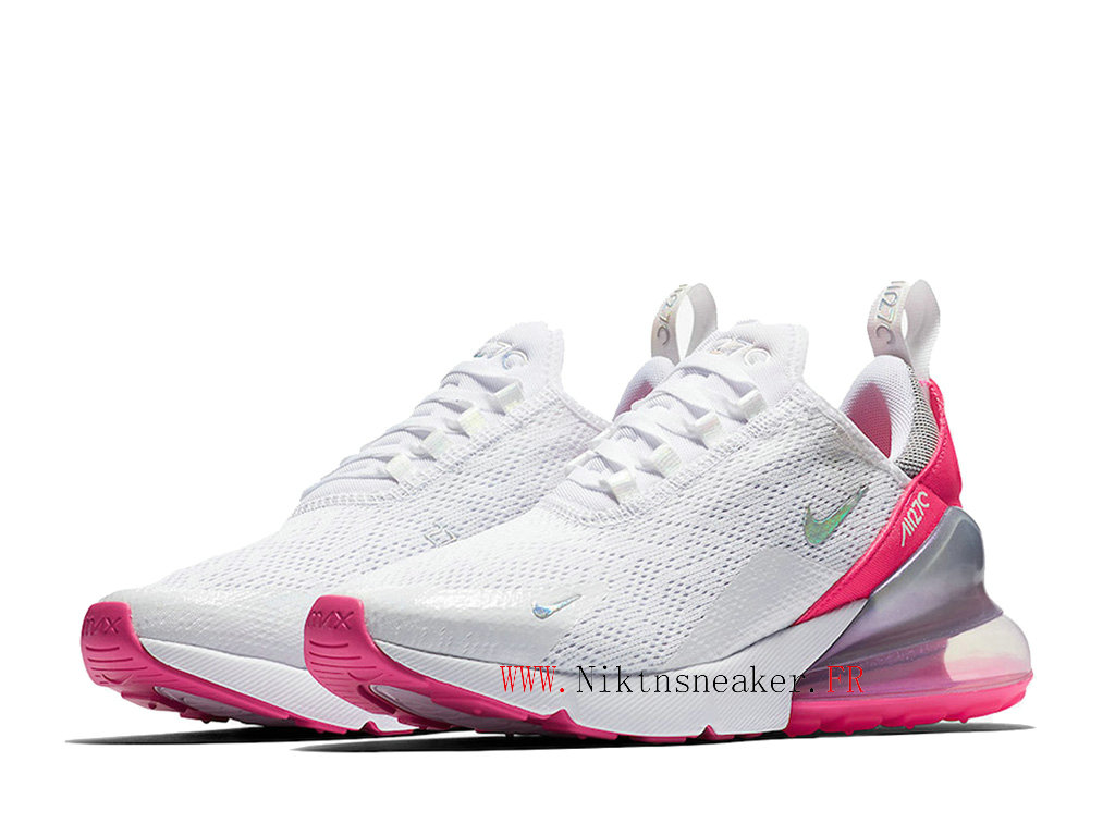 Nike Air Max 270 Gs Women ́s Air Cushion Shoes 2020 White / Pink / Silver CI1963-191