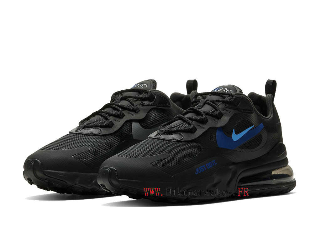 Nike Air Max 270 React Men ́s Air Cushion Shoes 2020 All Star Black / Blue CT2203-001