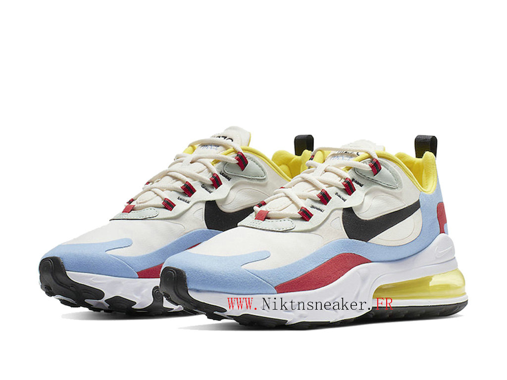 Nike Air Max 270 React Men ́s Air Cushion Shoes 2020 Women ́s Black Blue / White / Red AT6174-002