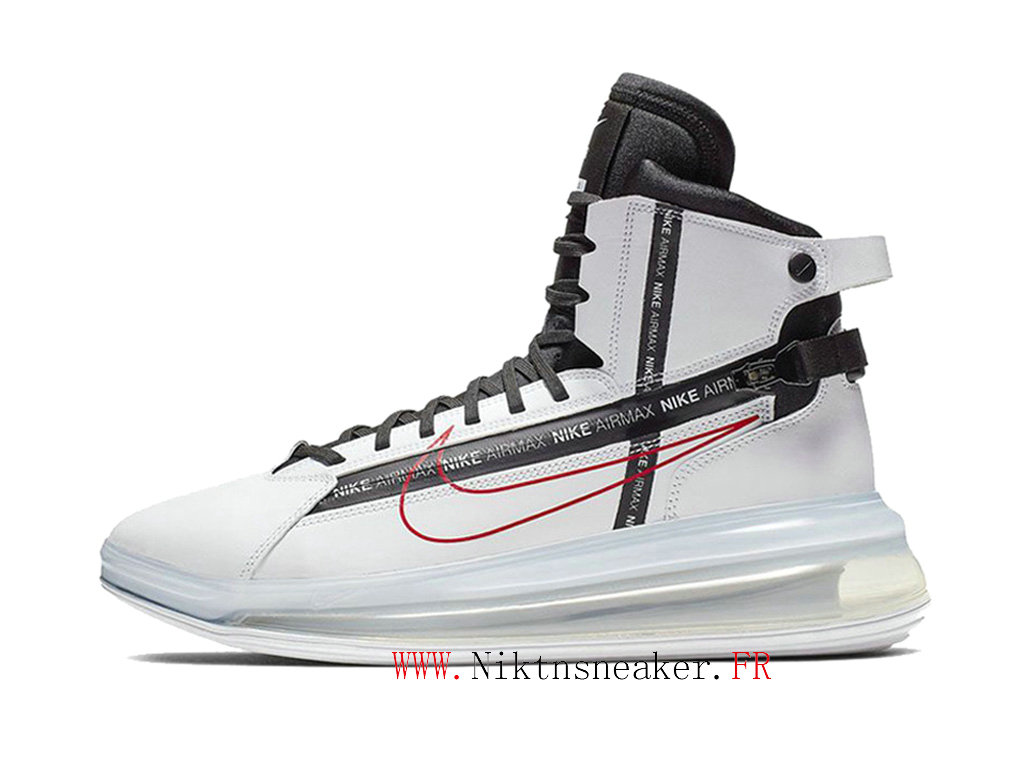 Nike Air Max 720 Saturn White / Red / Black Men ́s Nike Cheap Running Shoes For AO2110 100