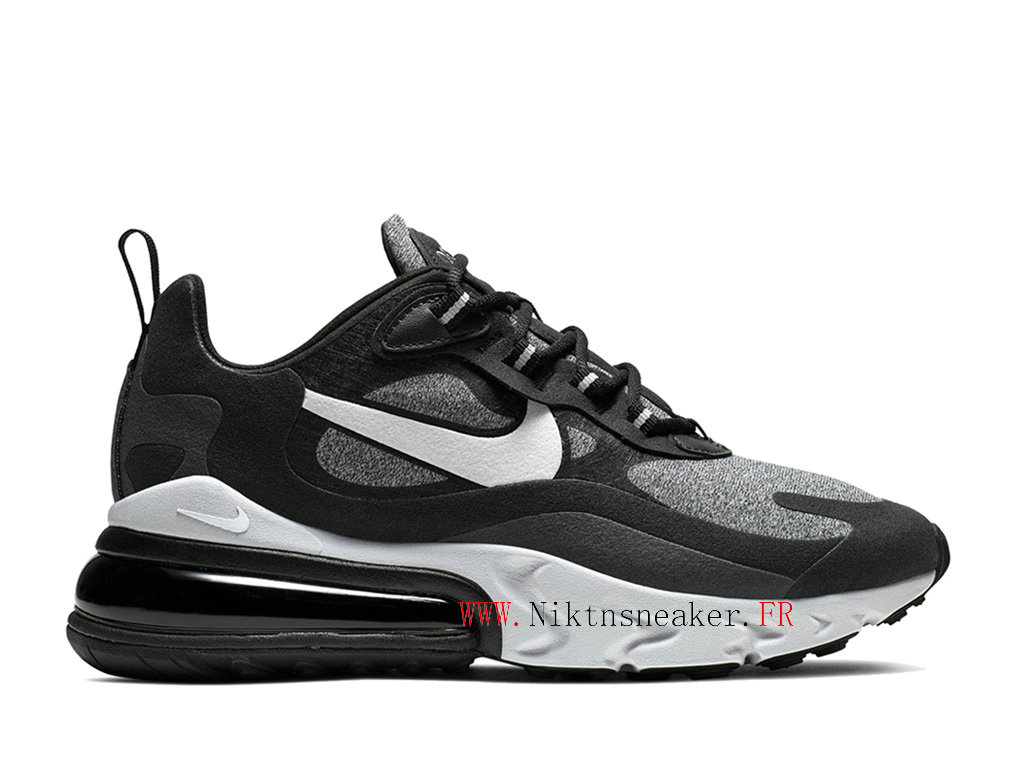 Nike Max 270 React Men ́s 2020 Air Cushion Shoes All Star Black / White / Gray AO4971-001