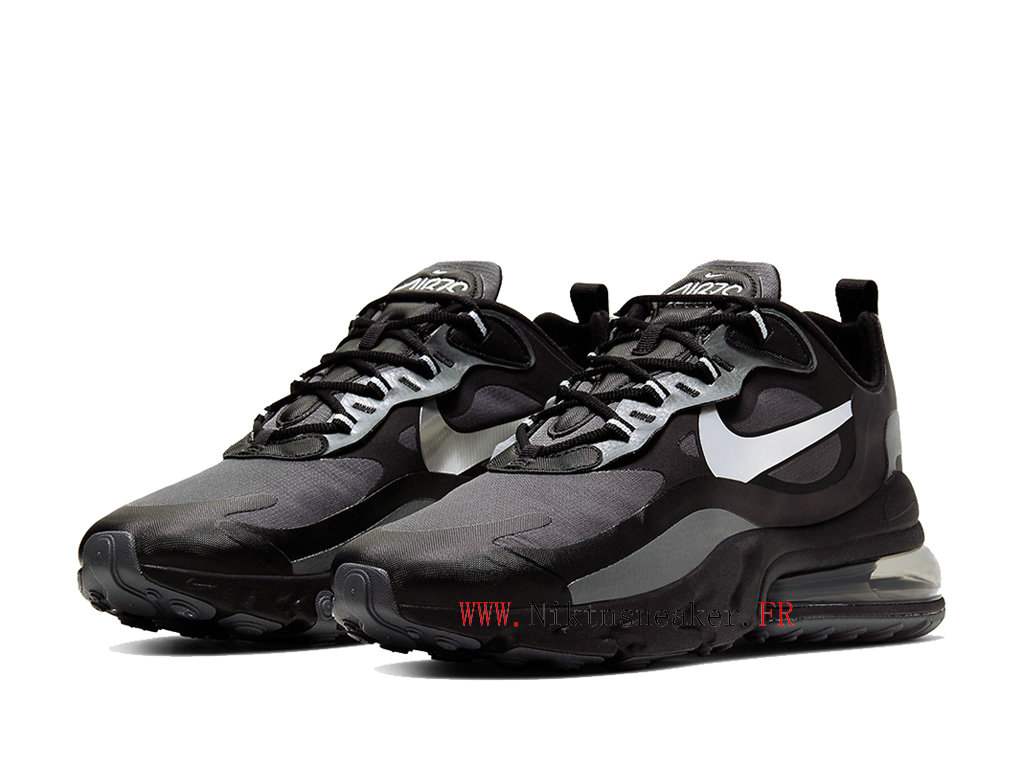 Nike Max 270 React Men ́s 2020 Air Cushion Shoes All Star Black / White / Gray CD2049 001