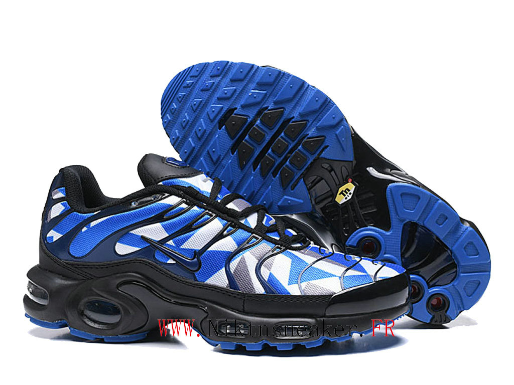 New 2020 Nike Air Max Plus Tn Black / White / Blue Men ́s Cheap Sportswear Shoes For