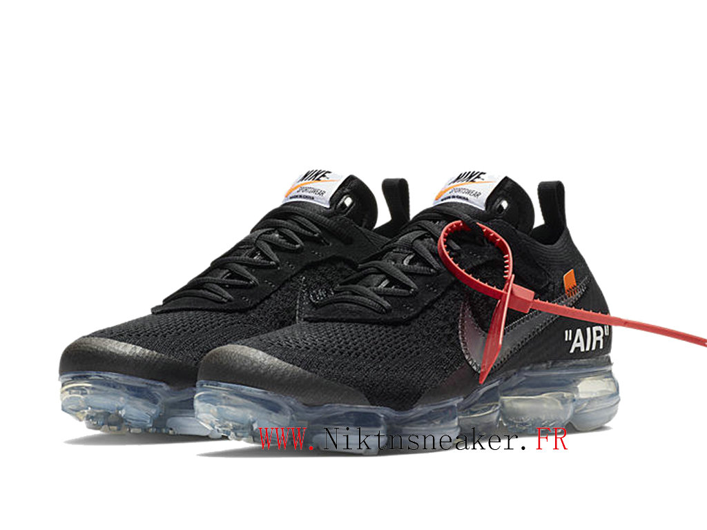 Off-White Nike Air Vapormax Ow AA3831-002 Chaussures Pas Cher Pour Homme Femme Blanc / noir