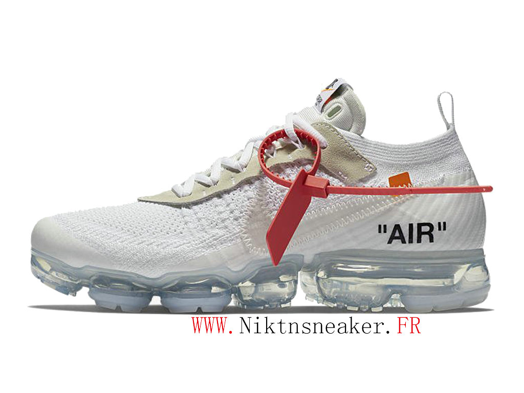 Off-White Nike Air Vapormax Ow AA3831-100 Chaussures Pas Cher Pour Homme Femme Blanc / clair