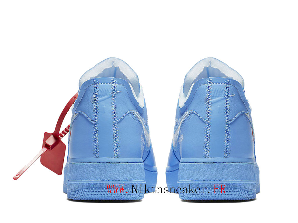 Off-White x Nike Air Force 1 MCA CI1173-400 Chaussures Pas Cher Pour Homme Blanc / ocean heart blue