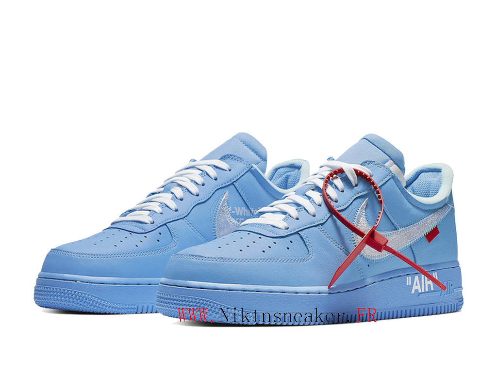 Off-White x Nike Air Force 1 MCA CI1173-400 Men ́s Cheap Shoes White / ocean heart blue
