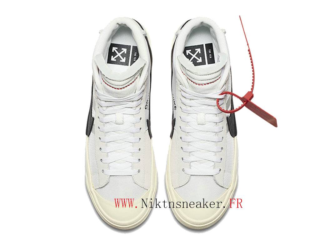 Off-White X Nike Blazer Mid Prix AA3832-100 Men ́s Cheap Shoes Women ́s White / beige / black