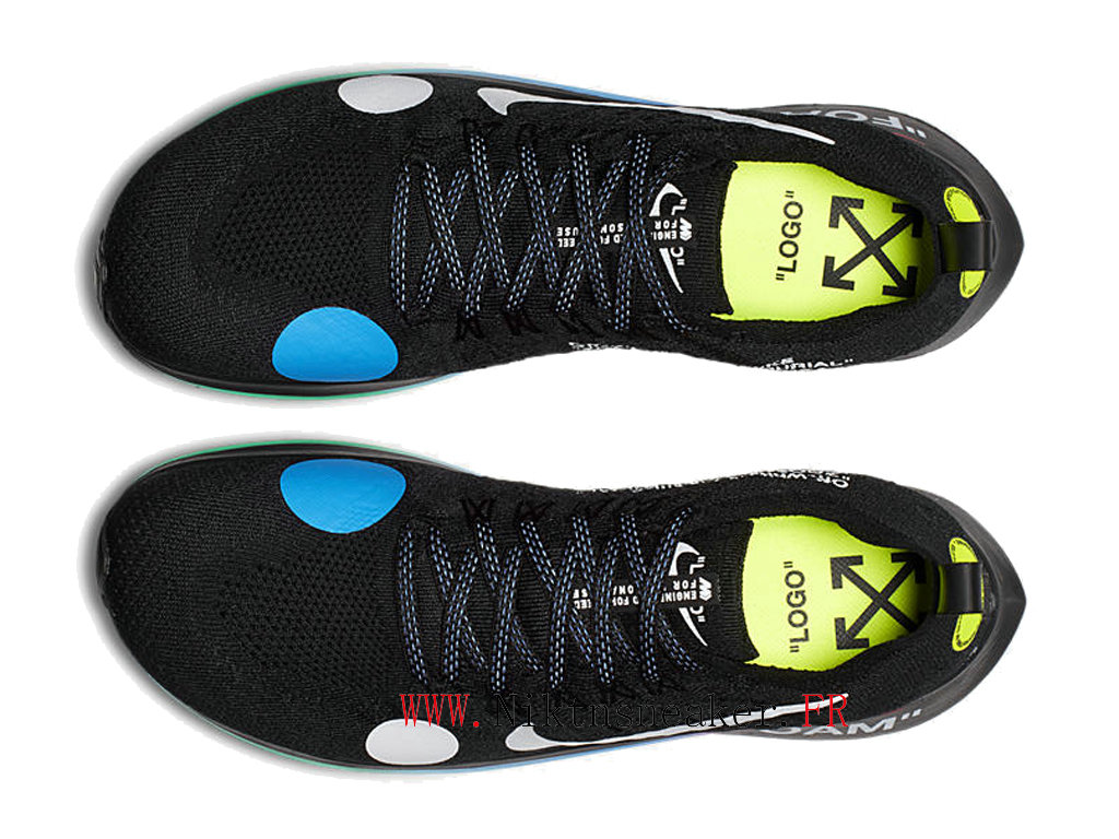 Off-White x Nike Zm Fly Mercurial Fk/Ow AO2115-001 Chaussures Pas Cher Pour Homme Rose / noir / bleu